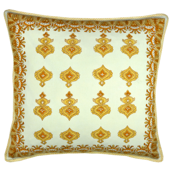 pillow front Olivia Yellow
