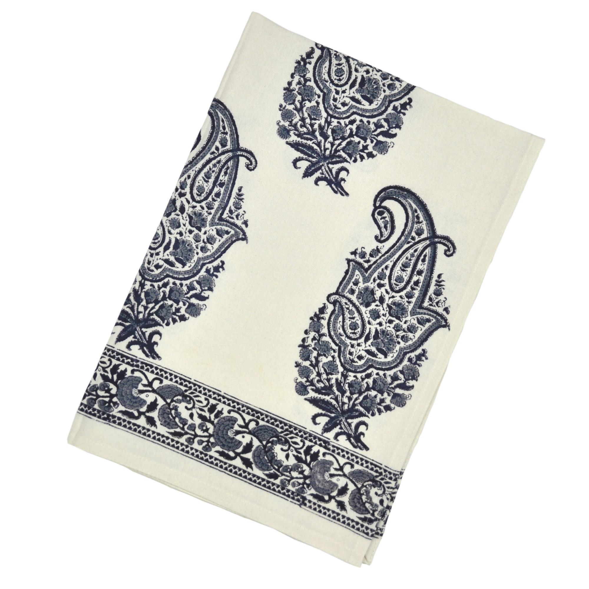 Kitchen Towel Paisley Black