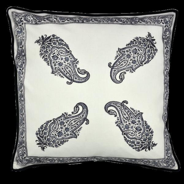 pillow front paisley black