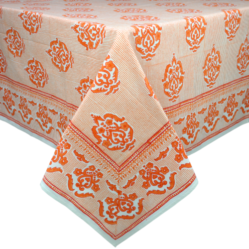 James Orange Tablecloth