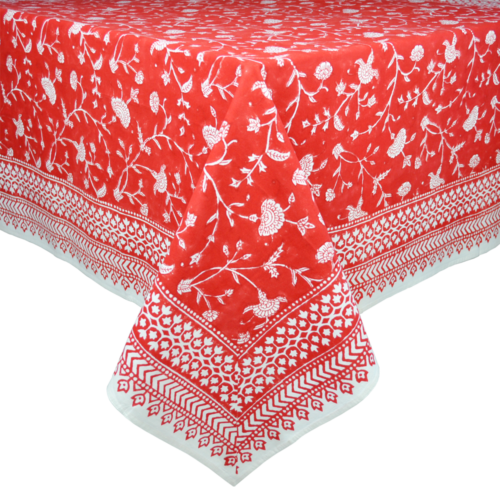 English Red Tablecloth